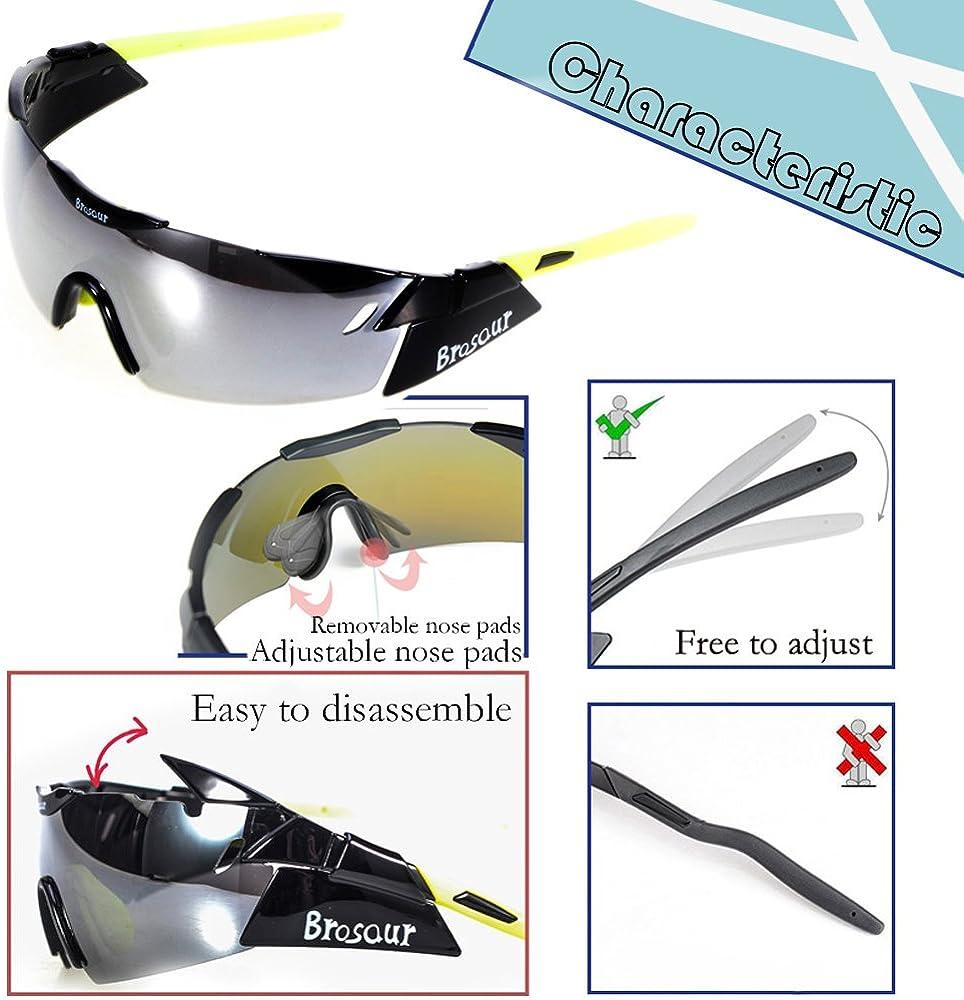 BRZSACR Motorcycle Polarized Sunglasses Cycling Sunglasses Polarized Sports Sunglasses