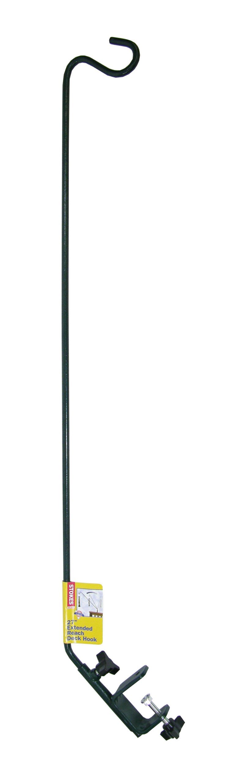 Stokes Select 27-Inch Metal Extended Reach Deck Hook with 360 Degree Swing for Bird Feeders