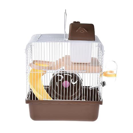Awhao - Jaula para hámster con diseño de castillo de animales ...