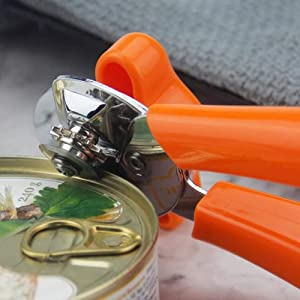 XuBa Multifunctional Can Opener Stainless Steel Smile Face Pattern for Kitchen Opening Cans Orange Originality