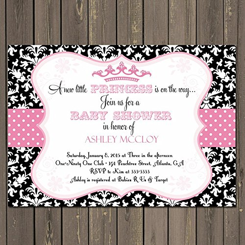 Amazon Little Princess Baby Shower Invitation In Pink And Black