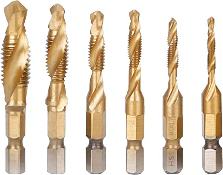6PCS Metel Wood Hole Saw Drill Bit Set High-Speed Steel Hexagonal Handle Screw