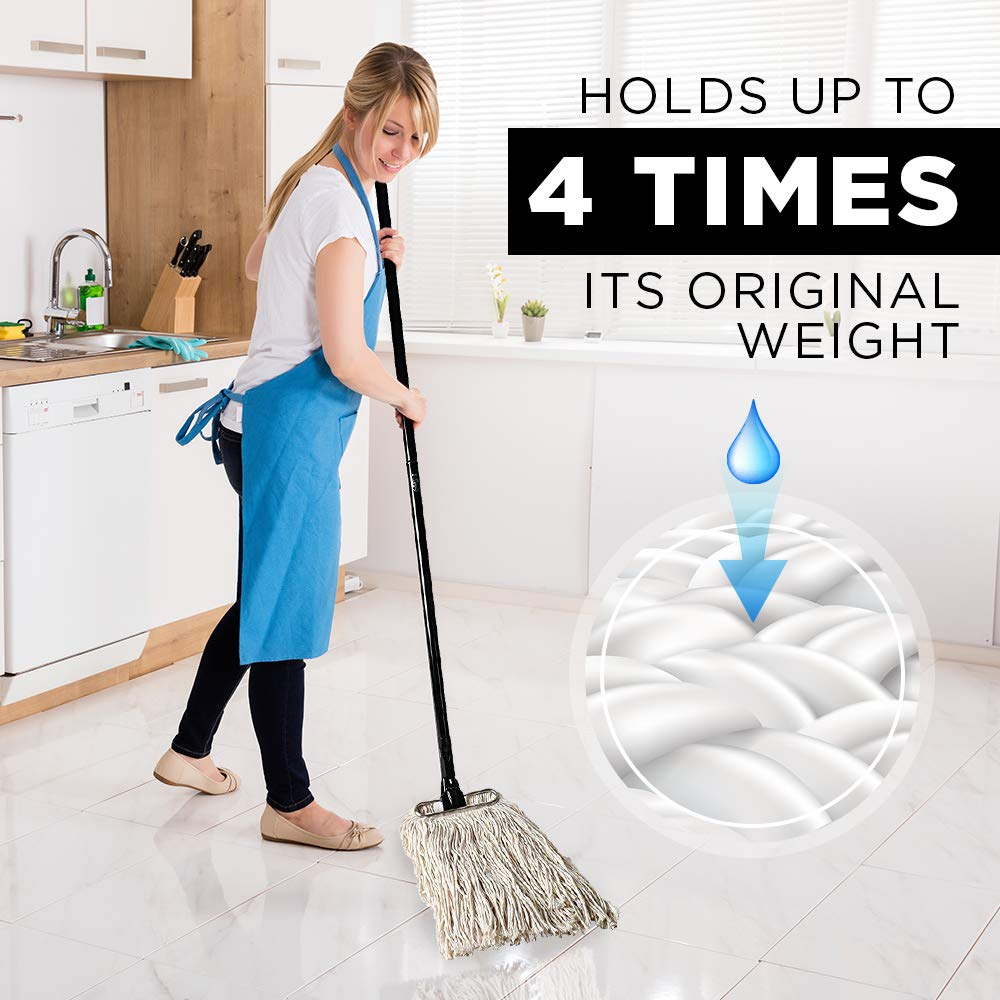 Fuller Brush Wet Mop Head - Absorbent & Professional Quality Cotton Yarn Floor Cleaner for Cleaning House, Commercial & Industrial Spaces by Fuller Brush (Image #5)