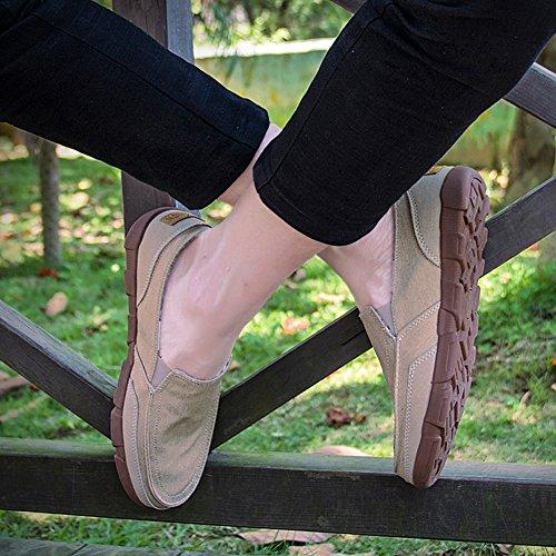 Pink da Barca Cachi da Scarpe Loafers Slip Uomo Classic Casuale Mocassini On Scarpe pT14wqadU