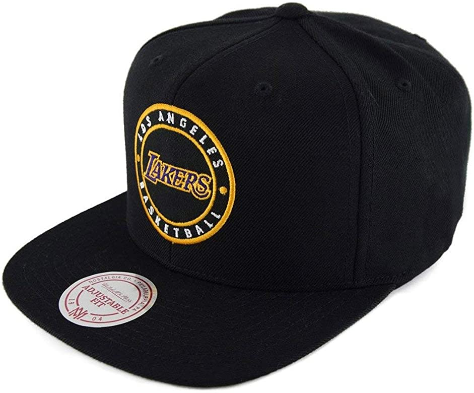 Mitchell & Ness Los Angeles Lakers Circle Patch Team Snapback ...