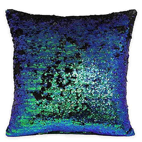 Park Lane Mermaid Sequin Throw Pillow in Iridescent 20in x -