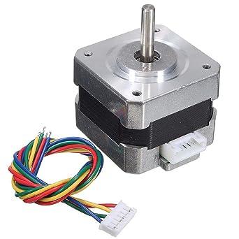 Amazon.com: 28 Ncm Nema 17 Stepper Motor 0.4A 1.8° 4Wire ...