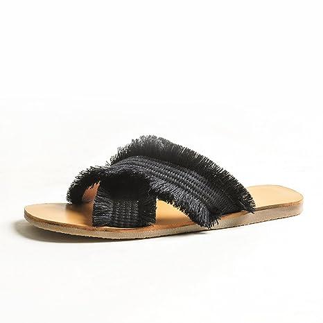 di alta qualità vasta gamma nessuna tassa di vendita DYY Pantofole rosse nette, scarpe piatte da indossare alla moda ...