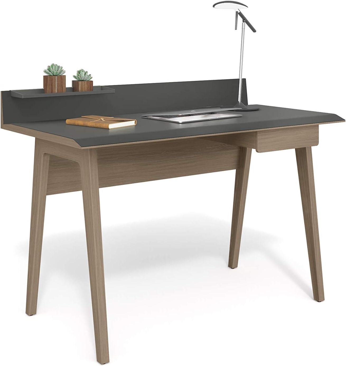 Amazon.com: BDI Bevel Writing Desk, Drift Oak: Kitchen & Dining