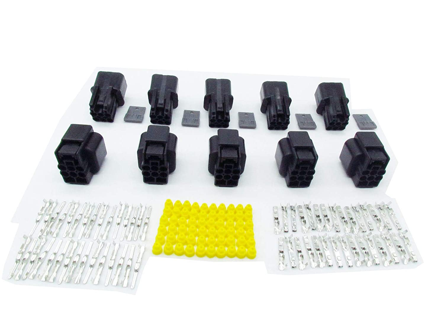 CNKF 5 Sets KUM NMWP Series 6 pin black waterproof male and female auto wire connector PB621-06020 PB625-06027 090