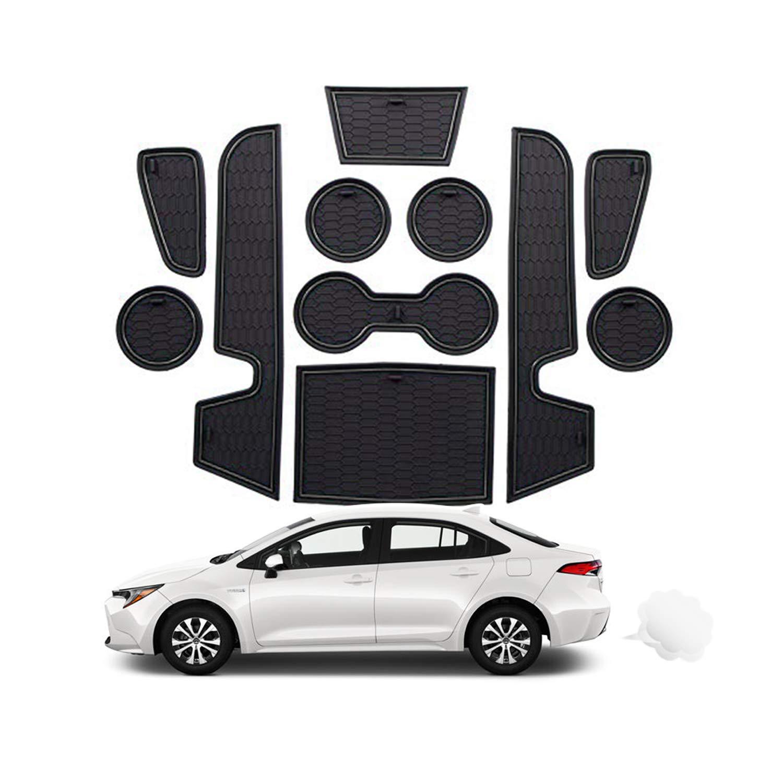 Wei/ß CDEFG f/ür Toyota Corolla 2019 2020 Auto Innere T/ürschlitz rutschfest Anti-Staub Matte Arm Box Aufbewahrung Pads