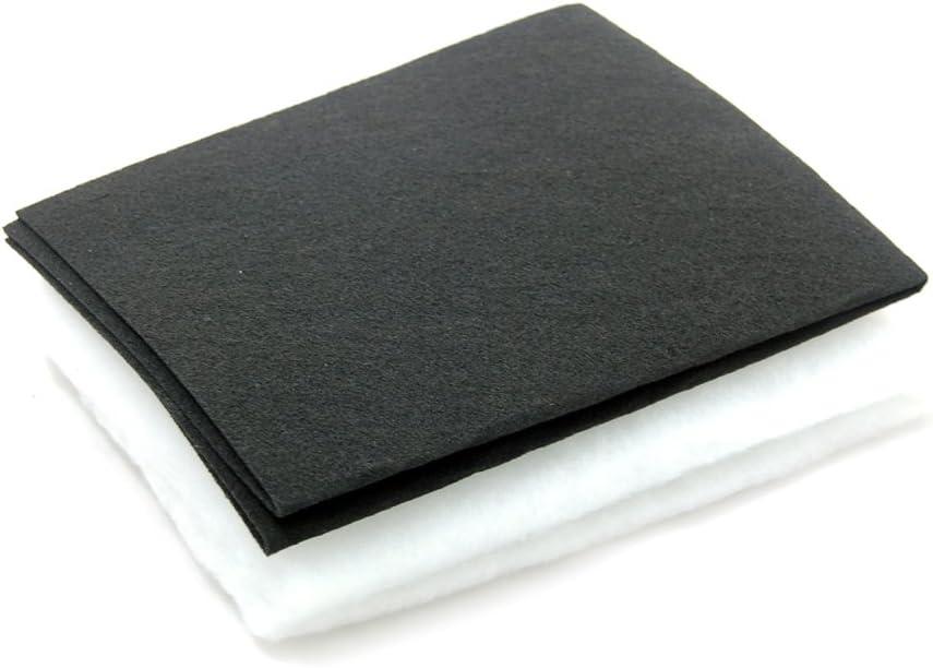Ezee-Fix Filtro de carbono y de grasa para campana extractora de humos Blanco y Negro