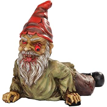 Exceptionnel 7 Inch Resin Scary Crawling Zombie Garden Gnome Décor Figurine