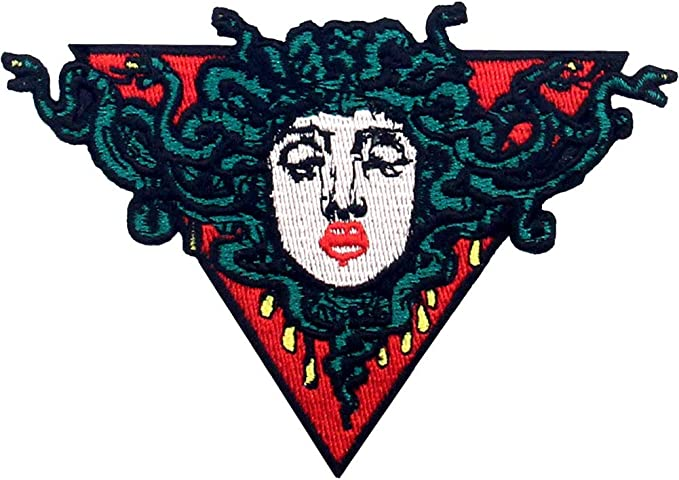 Medusa Head Embroidered Iron on //Sew on Patch Badge For Clothes etc