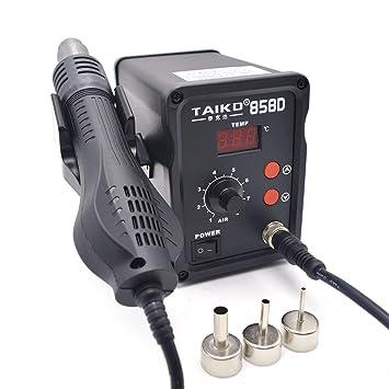 220 V 450 W 858D Estación de Soldadura LED Soldadura de Hierro Digital Desoldador BGA Estación de Retrabajo Temperatura Ajustable Pistola de Aire Caliente ...