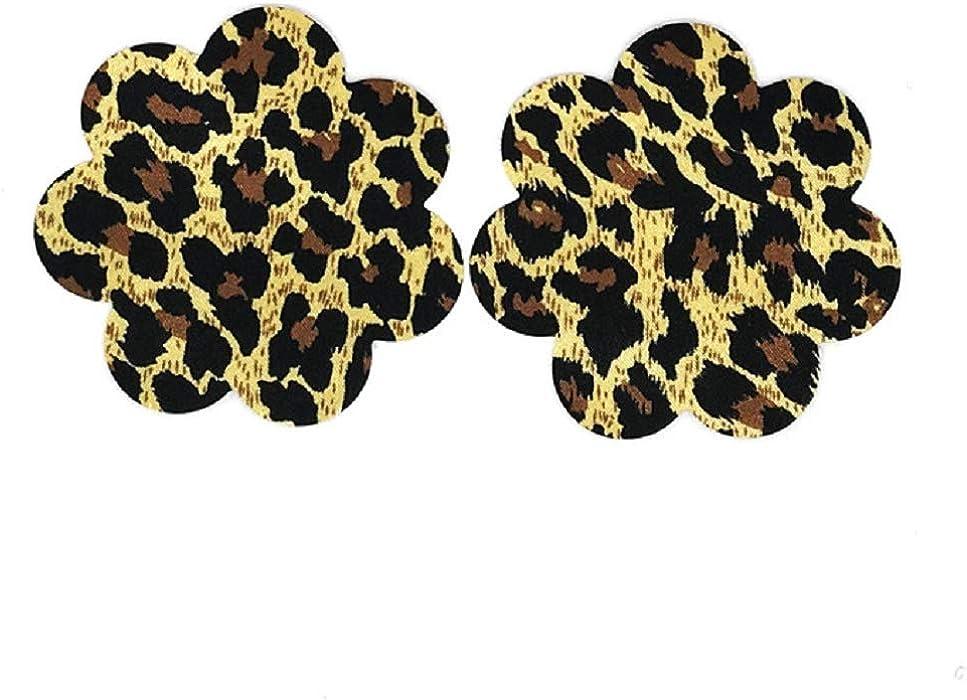 Kangqi Sujetador con forma de flor y sujetador de leopardo salvaje Sujetador con forma de flor y sujetador de leopardo salvaje