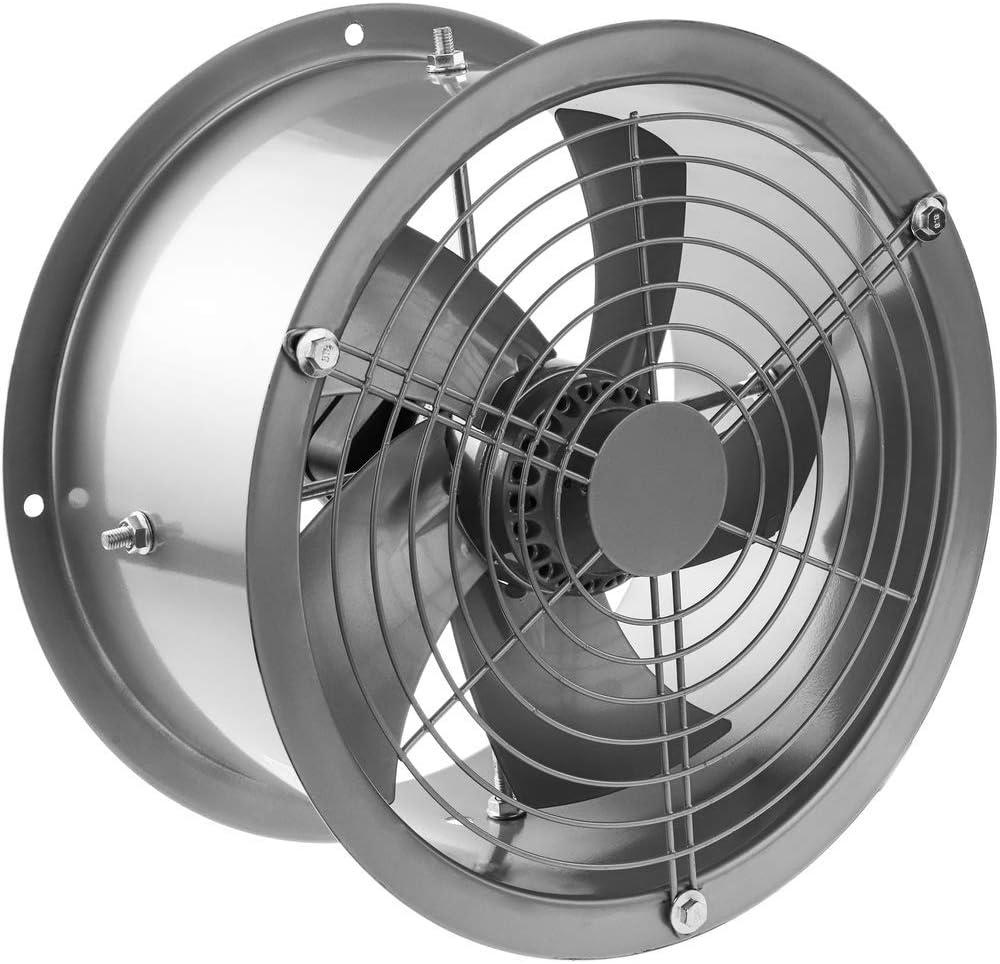 PrimeMatik - Extractor de Aire de Tubo de 300 mm para ventilación Industrial 2550 RPM Redondo 360x360x180 mm Plateado: Amazon.es: Electrónica