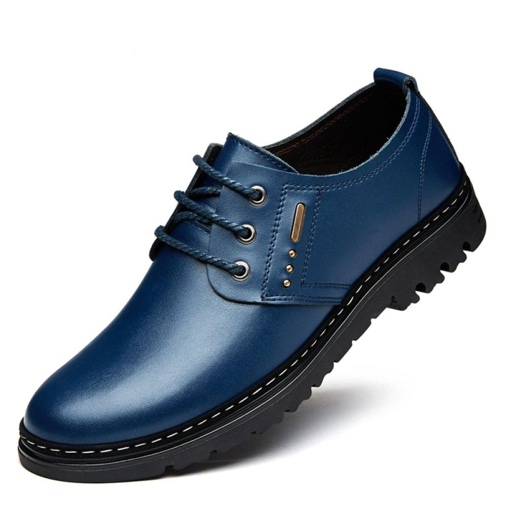 YXLONG Sandalia De Los Hombres De Verano Zapatos Transpirables De Los Hombres De Cuero Nuevos Zapatos Huecos Zapatos De Los Hombres De Los Zapatos De Los Hombres,Fourseasonsblue-37 37|fourseasonsblue