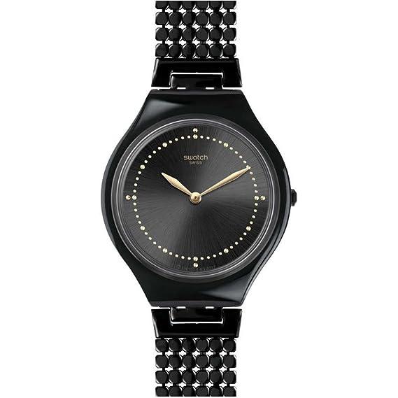 Swatch Reloj Analogico para Unisex de Cuarzo con Correa en Acero Inoxidable SVOB103GA: Amazon.es: Relojes