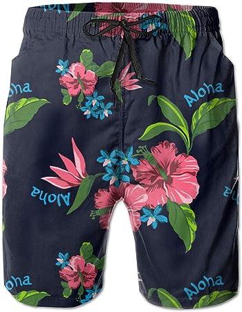 tyui7 Bañador con Estampado de Flores del Estado Hawaiano para Hombre, bañador Divertido