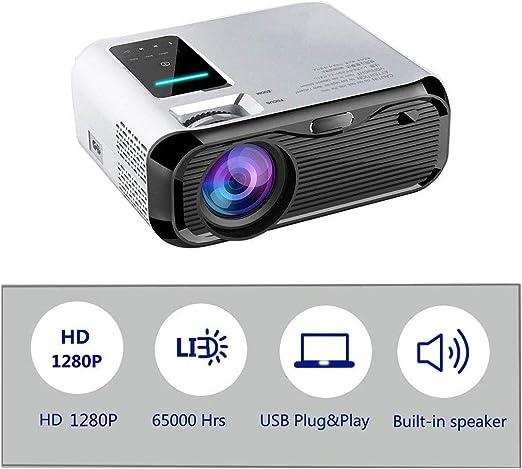 Proyector Mini proyector LED de 6500 lúmenes Video 1280P Full HD ...