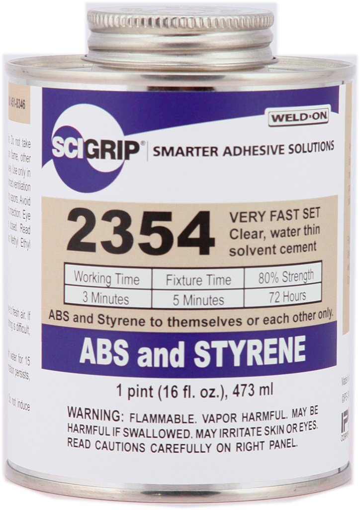 SCIGRIP Weld-On #2354 Adhesive, Pint and Weld-On Applicator Bottle with Needle