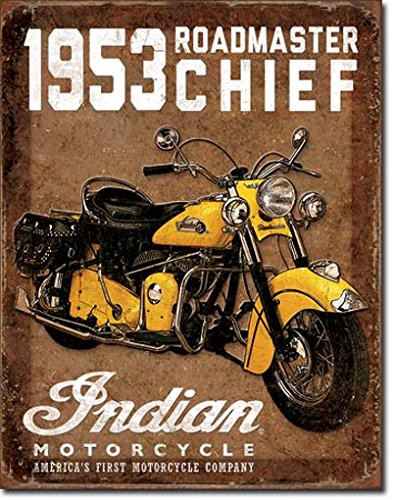 1953 Indian Roadmaster Tin Sign 13 x 16in for sale  Delivered anywhere in USA
