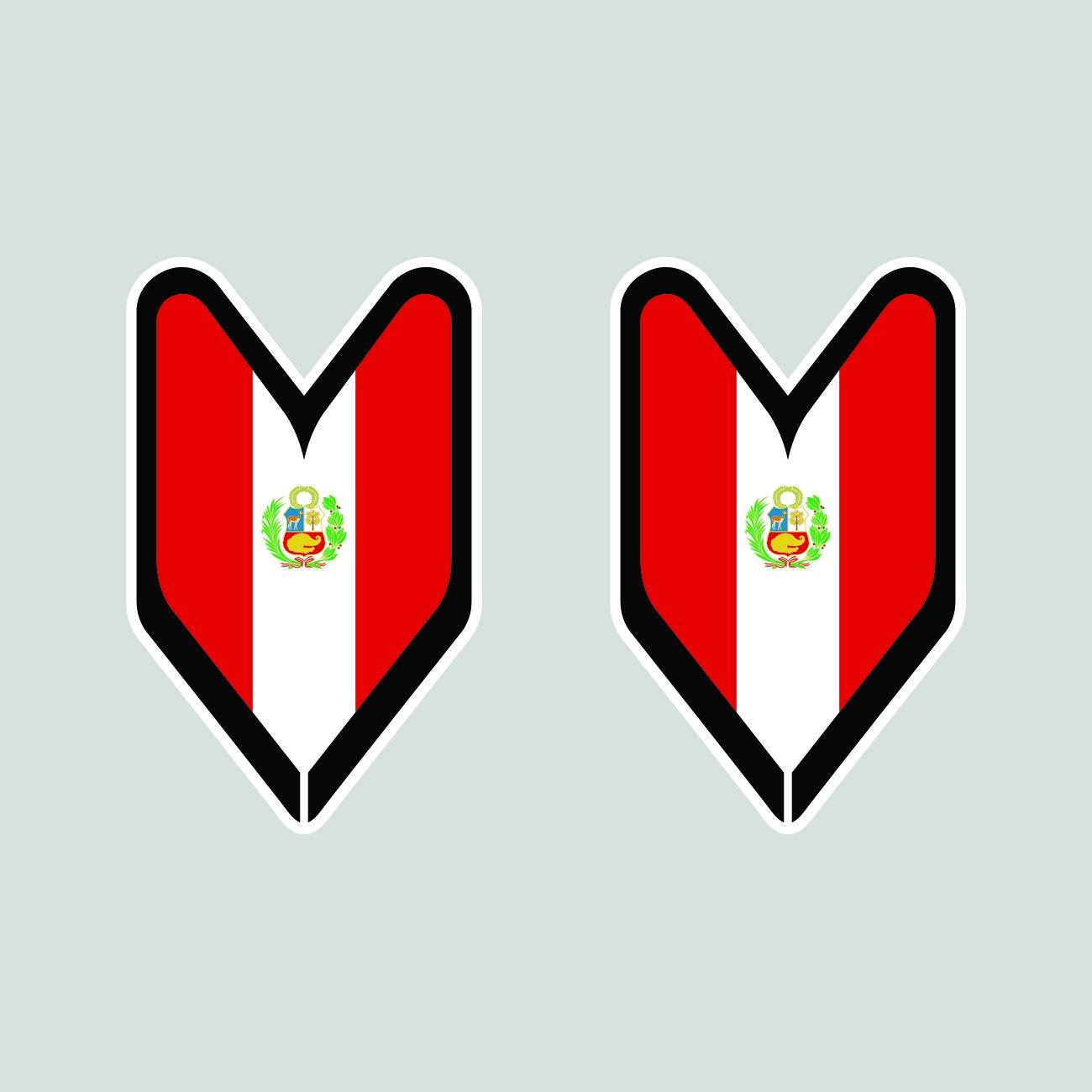 Two Pack Peruvian Driver Badge Sticker FA Graphix Die Cut Decal wakaba leaf soshinoya Peru PER PE
