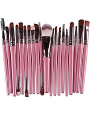 Cdet 20X Cepillo del Maquillaje Unidades brochas y einceles de Maquillaje con Mango de Bambú de