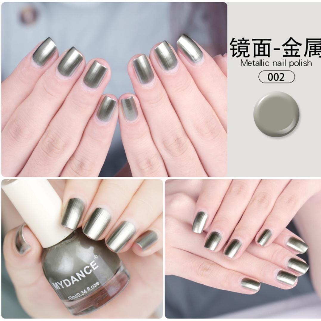 Covermason Metallic Nail Polish Flow Gold Mirror Chrome Effect Foil ...