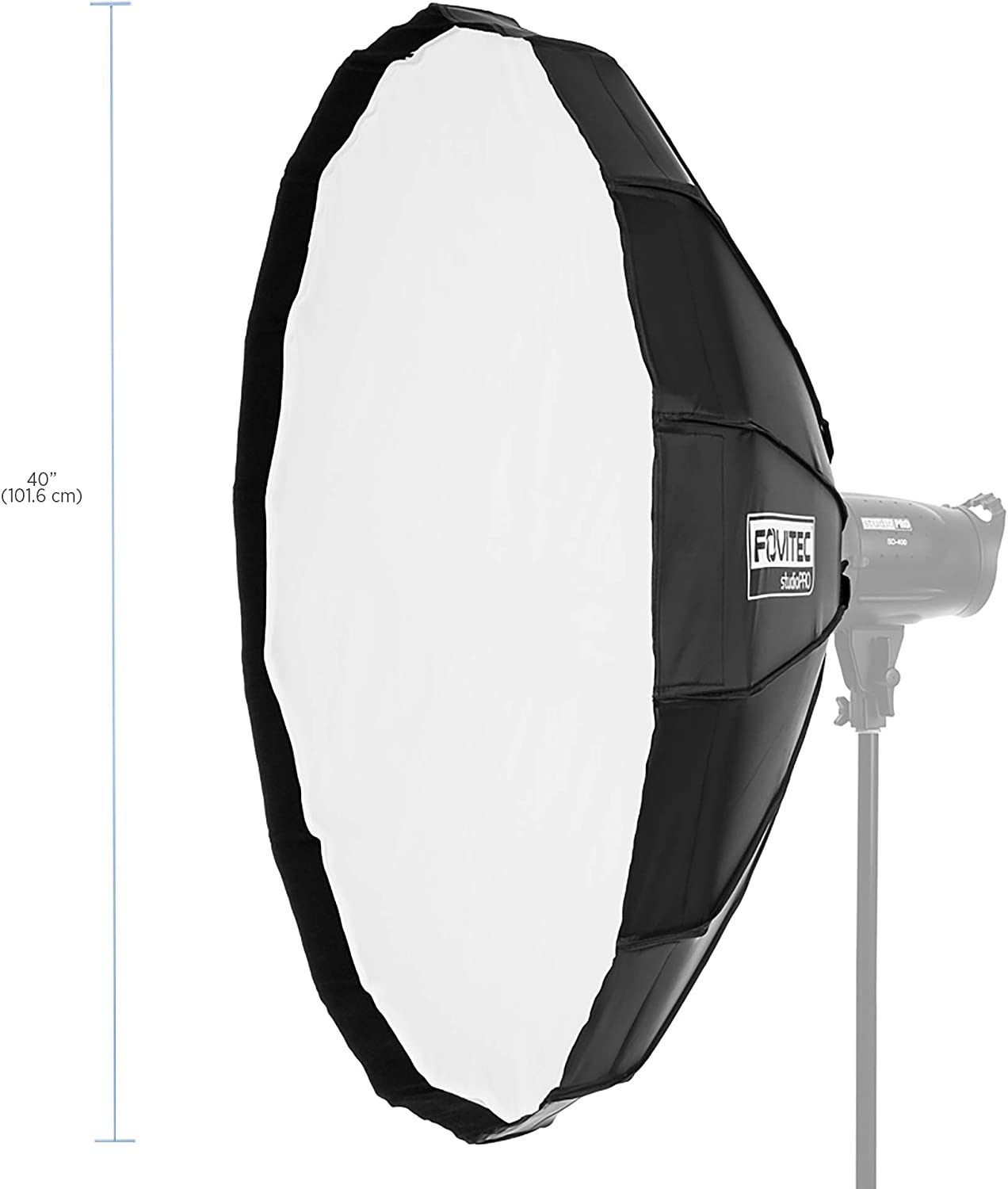 1x 48 inch Octagon Photography Travel Beauty Dish Bowens w//Grid Quick EZ Set Up - Lightweight Fovitec Bowens Mount Durable Nylon Easy Set-up
