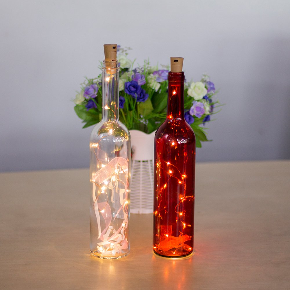 Tomshine Bottle Lights 6 Packs Copper Wire Cork Lights, DIY Fairy Lights with Cork 75CM, Wine Bottle Lights for Home, Bar, Party, Wedding, Christmas