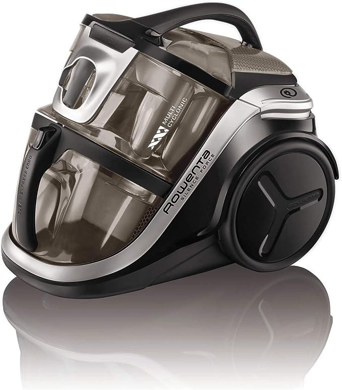 Rowenta Silence Force Multi RO8388EA - Aspirador sin bolsa multiciclónico, silencioso, fácil de limpiar, vaciar y almacenar, incluye con accesorios para coche/hogar, diseño compacto, Motor EffiTech: 312.6: Amazon.es: Hogar
