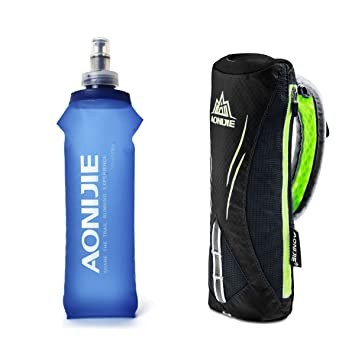 Amazon.com: Geila Botella de agua de mano para correr ...