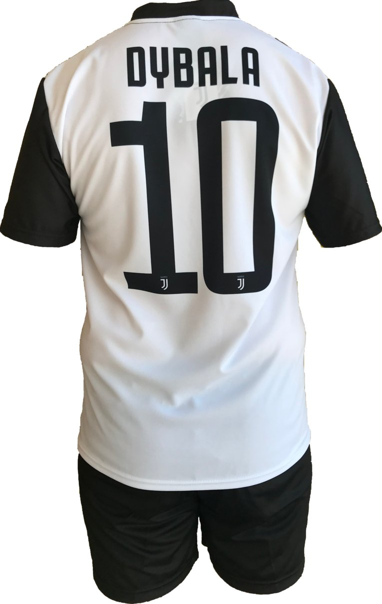 Conjunto Equipacion Camiseta Pantalones Futbol Juventus Paulo Dybala 10 Replica Oficial Autorizado 2018-2019 Niños (2,4,6,8,10,12 año) Adultos (Small, ...