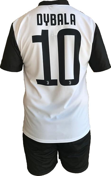 Conjunto Equipacion Camiseta Pantalones Futbol Juventus Paulo Dybala 10 Replica Oficial Autorizado 2018-2019 Niños