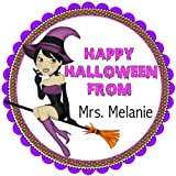 "Best custom broom - 40 Stickers 2"" Round Halloween Witch on the Review"