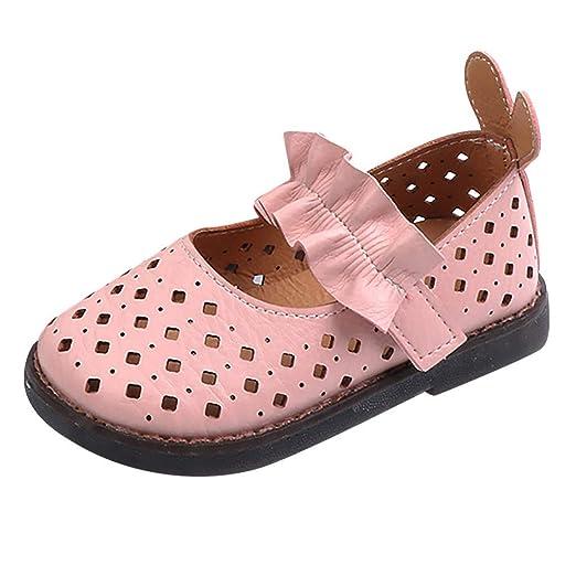 6e0015f9334e0 Amazon.com: WUAI Girls Sandals,Casual Single Shoes Hollow Floral ...