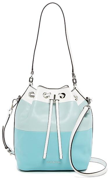fe3585f8630c20 Amazon.com: MICHAEL Michael Kors Womens Dottie Leather Colorblock Bucket  Handbag Blue Large: Shoes