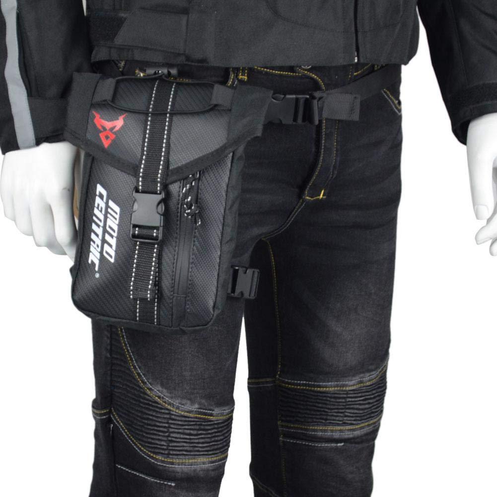 los d/ías de Fiesta y Senderismo Sunneey Bolso de Moto Conveniente de Pierna Caminar Suave Impermeable con Correa Ajustable Que Monta Bolso de Cintura para Motocicleta