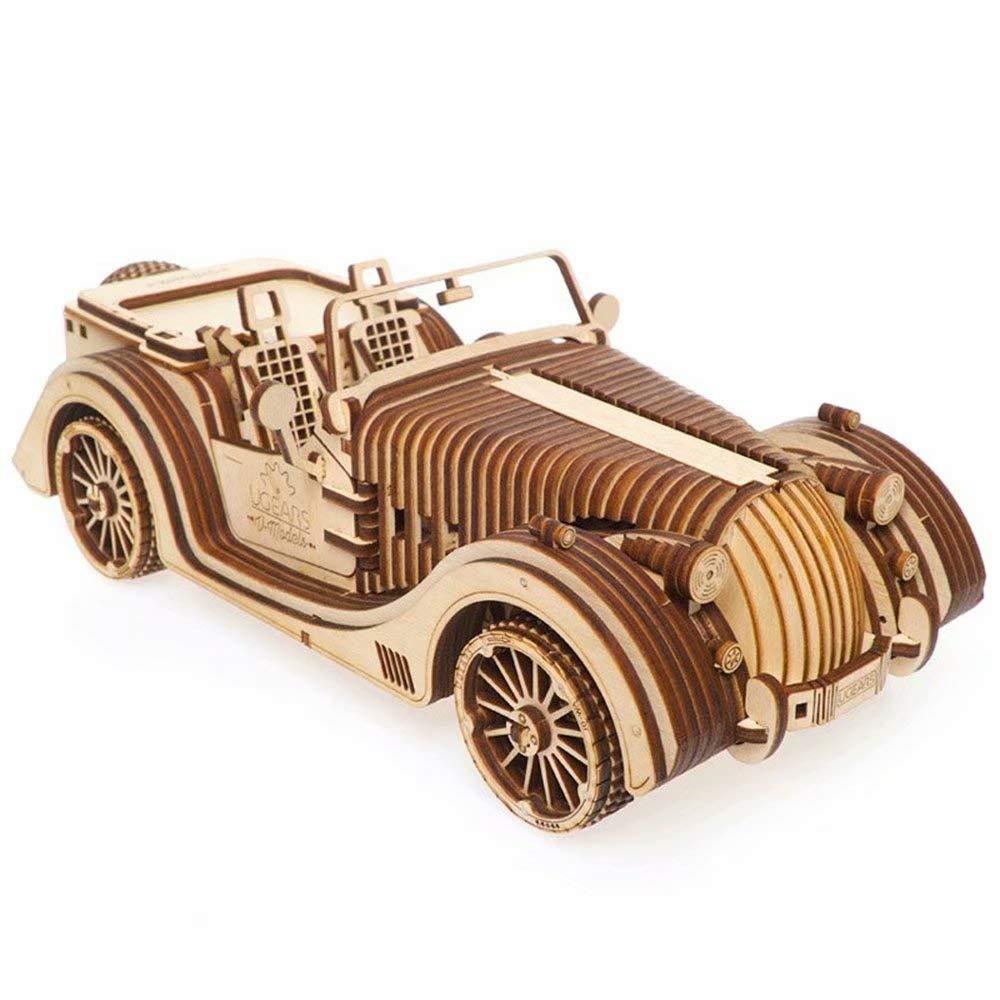 Mechanisches Getriebe aus Holz von UGEARS Sehr schwieriges Spielzeug für den Roadster