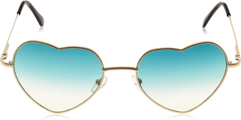 Onnea Herz Sonnenbrille Metall Rahmen Pack f/ür Kinder Damen Sommer