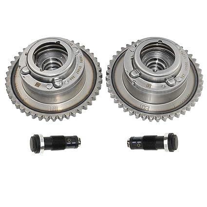 Amazon.com: Intake & Exhaust Camshaft Adjuster+Tensioners Kit Compatible For Mercedes C250 E250 SLK250 M271: Automotive