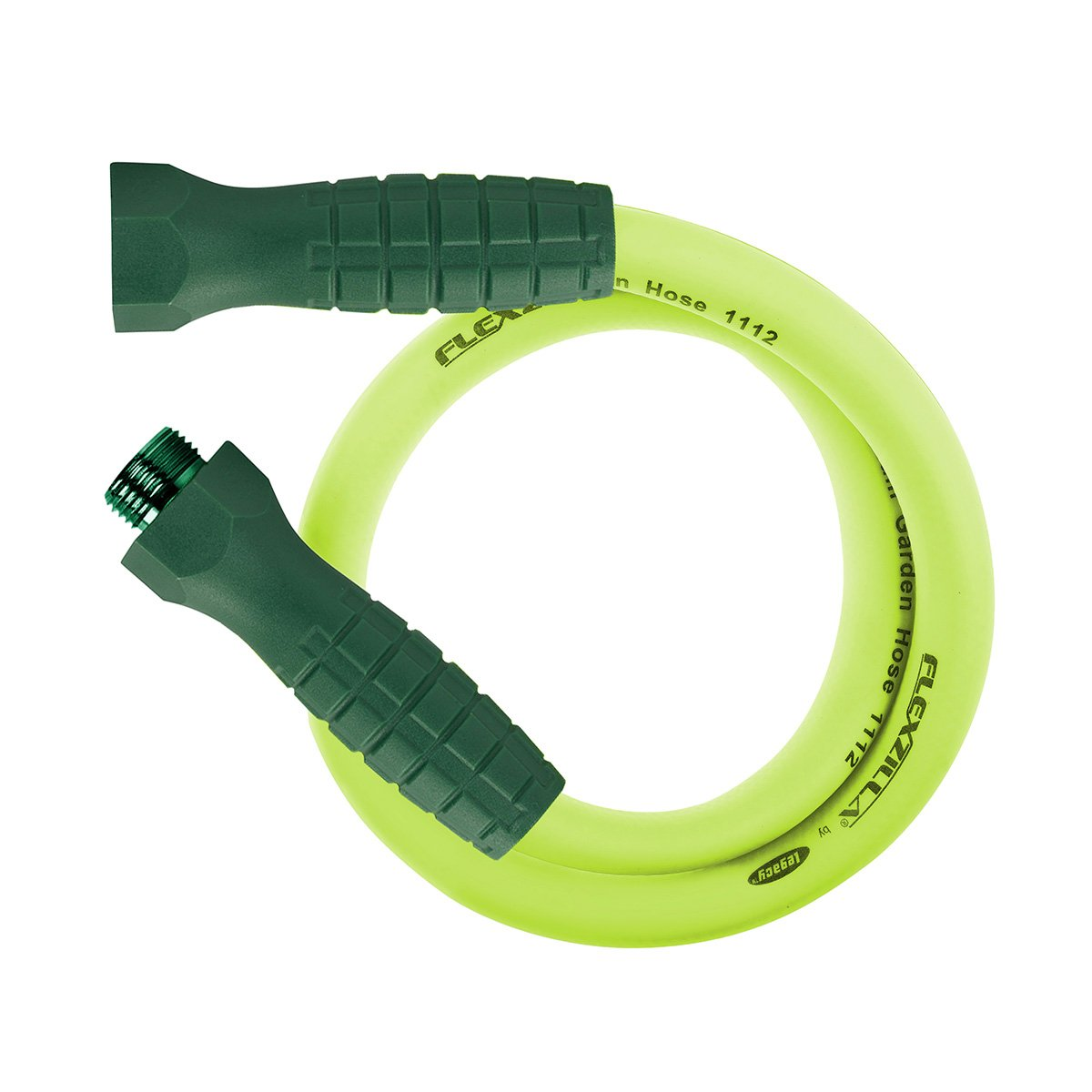 Flexzilla Garden Lead-in Hose with SwivelGrip, 5/8 in. x 3 ft, Heavy Duty, Lightweight, Drinking Water Safe - HFZG503YWS