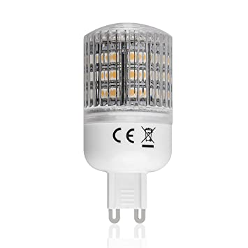 Lighting EVER® Bombilla LED G9, Equivalente a una Bombilla Halógena de 30W, Blanco Cálido: Amazon.es: Electrónica