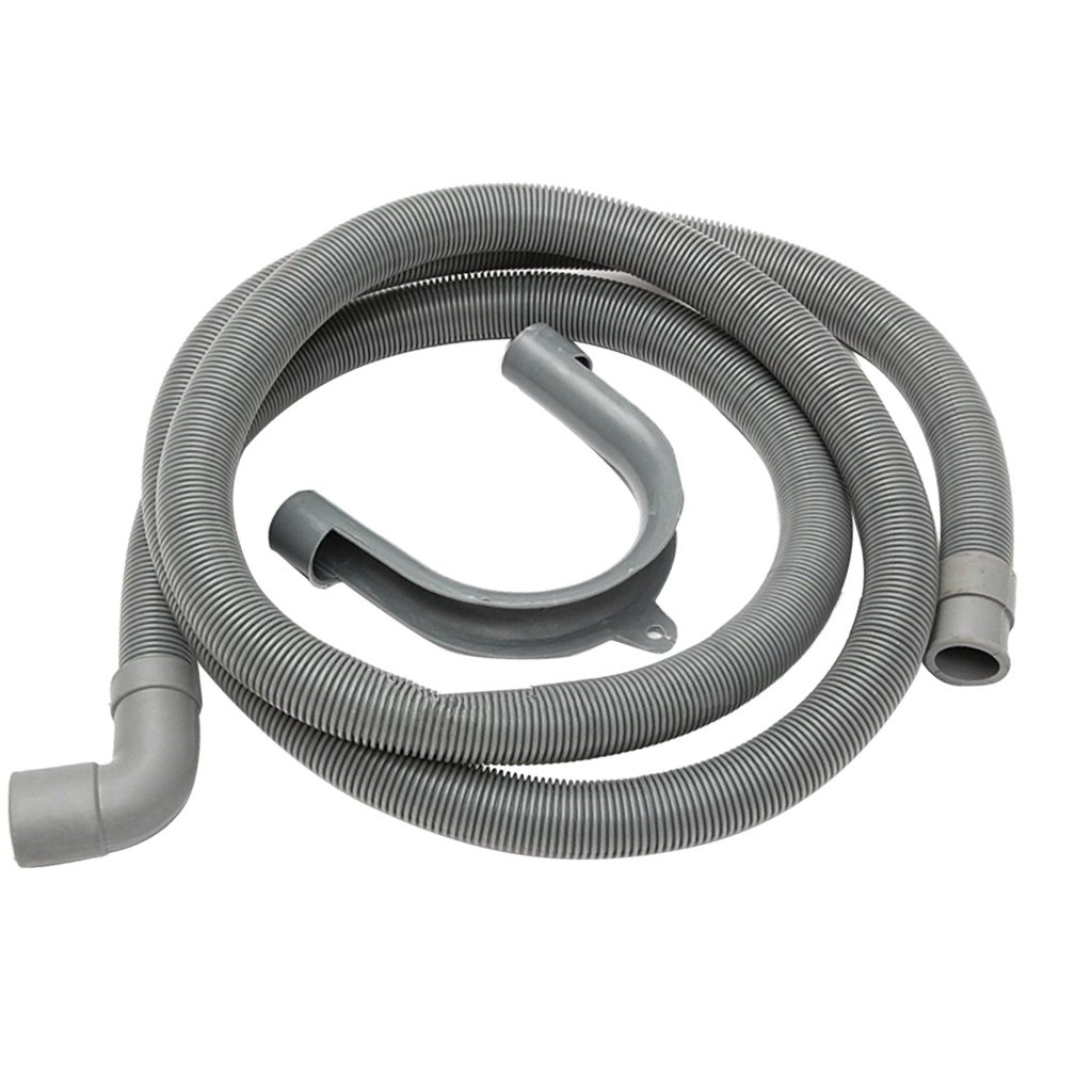 Dolity Washing Machine Discharge Hose, Fit Drain Hose with Elbow, Heavy-Duty Water Support, Flexible - 1.5m