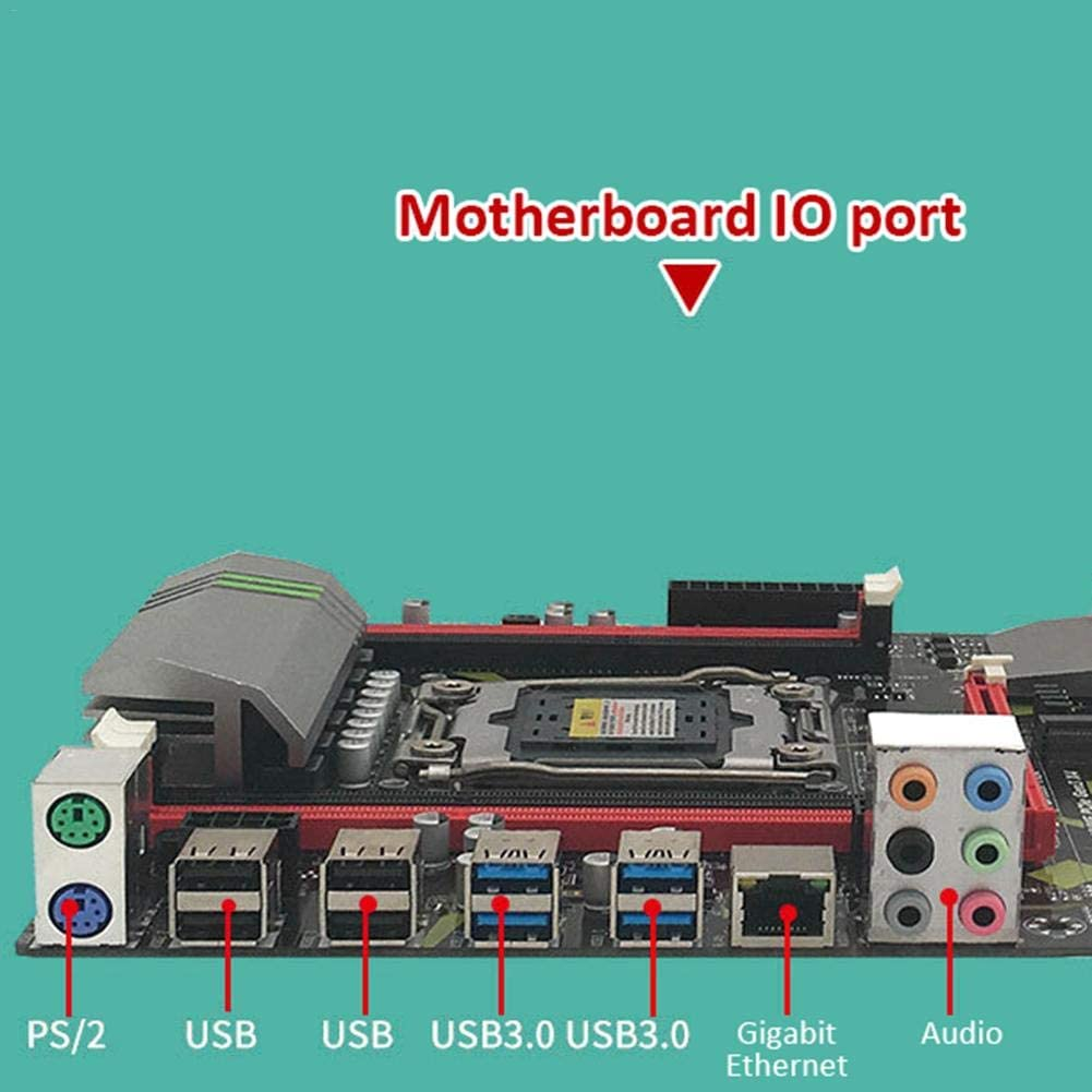 Support Gigabit Network Card Motherboard Built-in Backlight LED Colorful Lights with Four-Channel Memory Slot CPU Support Gigabit Network Card Motherboard Summeishop Motherboard