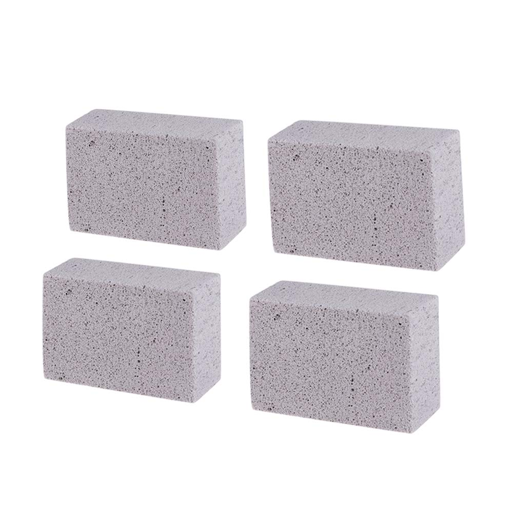 Yardwe Grill Cleaning Brick Ecological Odorless Grilling Stone Cleaner Reusable Magic Stone 2pcs (Grey)