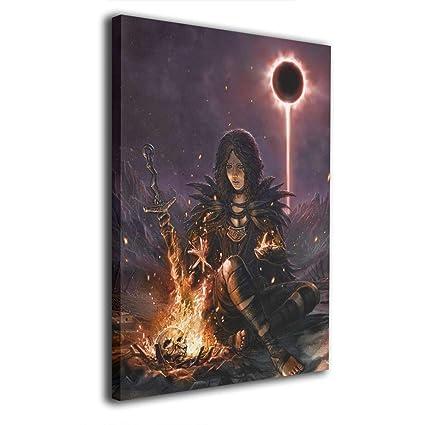 Amazon Com Hothz Dark Souls Wall Art Poster Canvas Printed