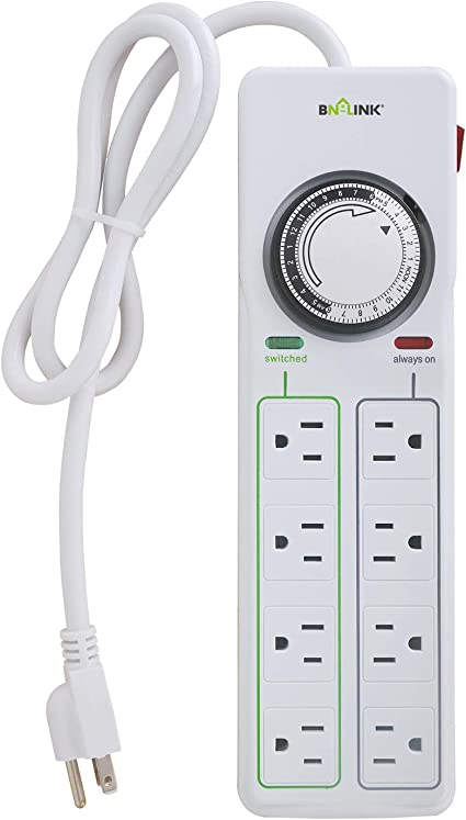Surge protector with timer